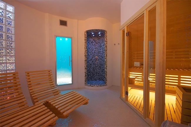 L'area benessere dell'Hotel Aragosta